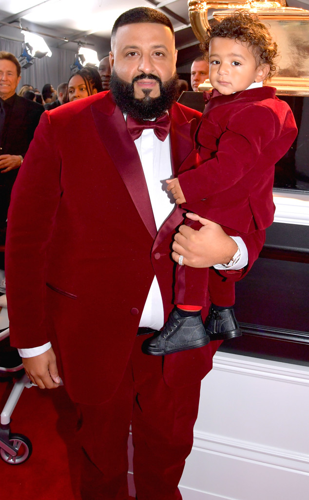 DJ Khaled, Asahd, 2018 Grammy Awards, Candids