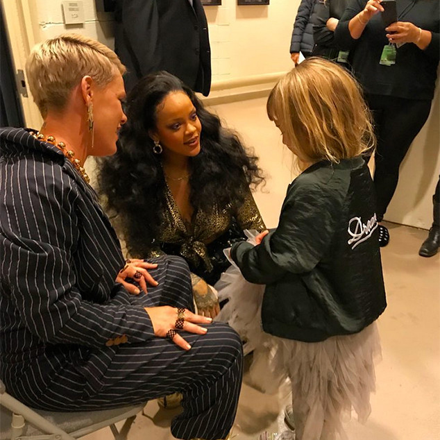 Pink, Willow Hart, Rihanna, 2018 Grammy Awards