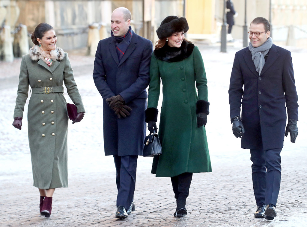 ESC: Kate Middleton, Prince William, Prince Daniel, Princess Victoria