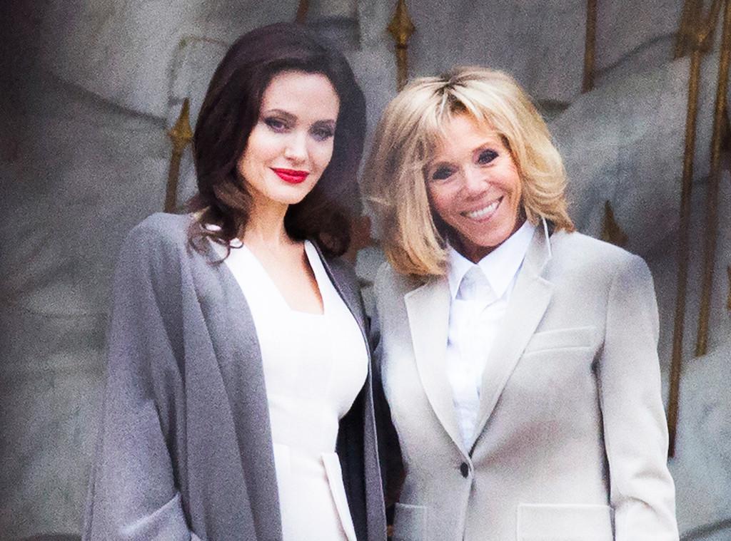 Brigitte Macron, Angelina Jolie