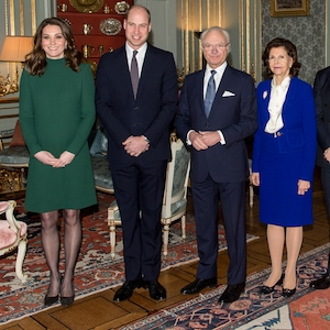 Kate Middleton, Prince William, King Carl XVI Gustaf, Queen Silvia, Prince Daniel, Duke of Vastergotland, Princess Victoria