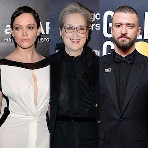 Rose McGowan, Meryl Streep, Justin Timberlake