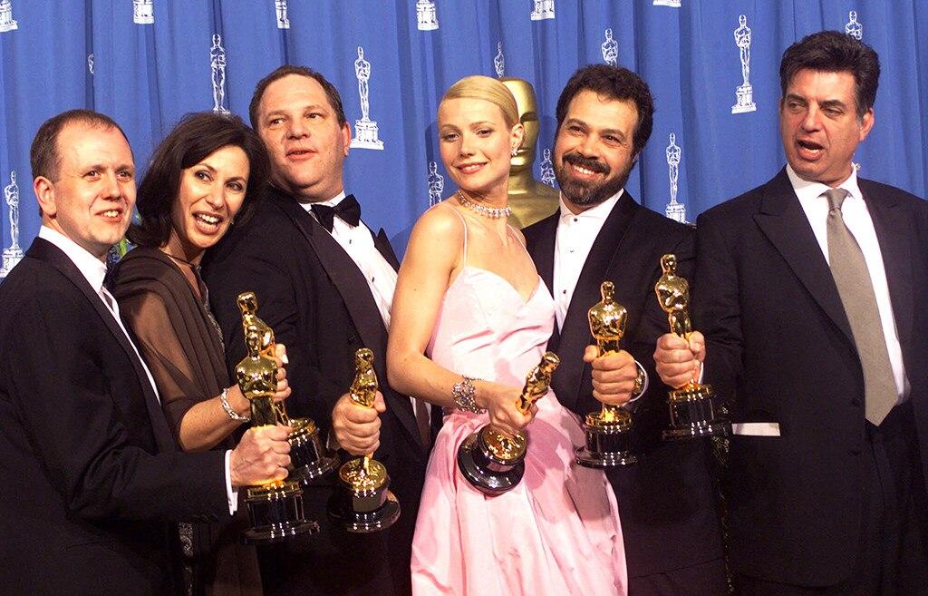 David Parfitt, Donna Gigliotti, Harvey Weinstein, Gwyneth Paltrow, Edward Zwick and Marc Norman