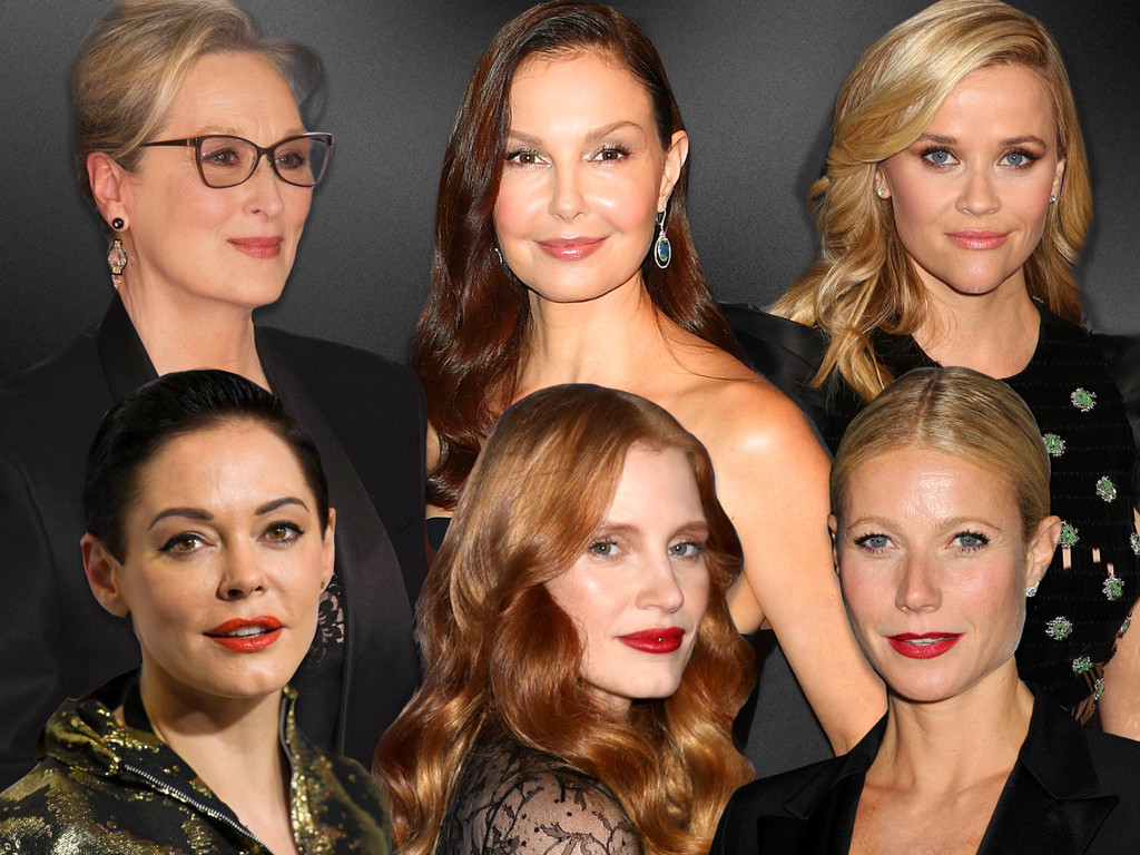 MeToo, Meryl Streep, Reese Witherspoon, Jessica Chastain, Gwyneth Paltrow, Ashley Judd, Rose McGowan