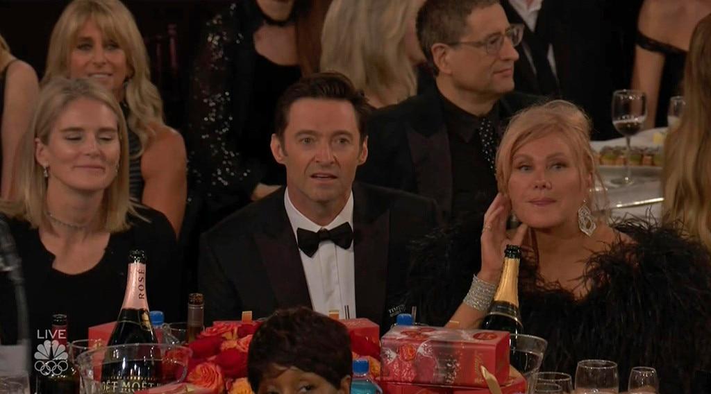 Hugh Jackman Looks Bewildered As James Franco Beats Him To