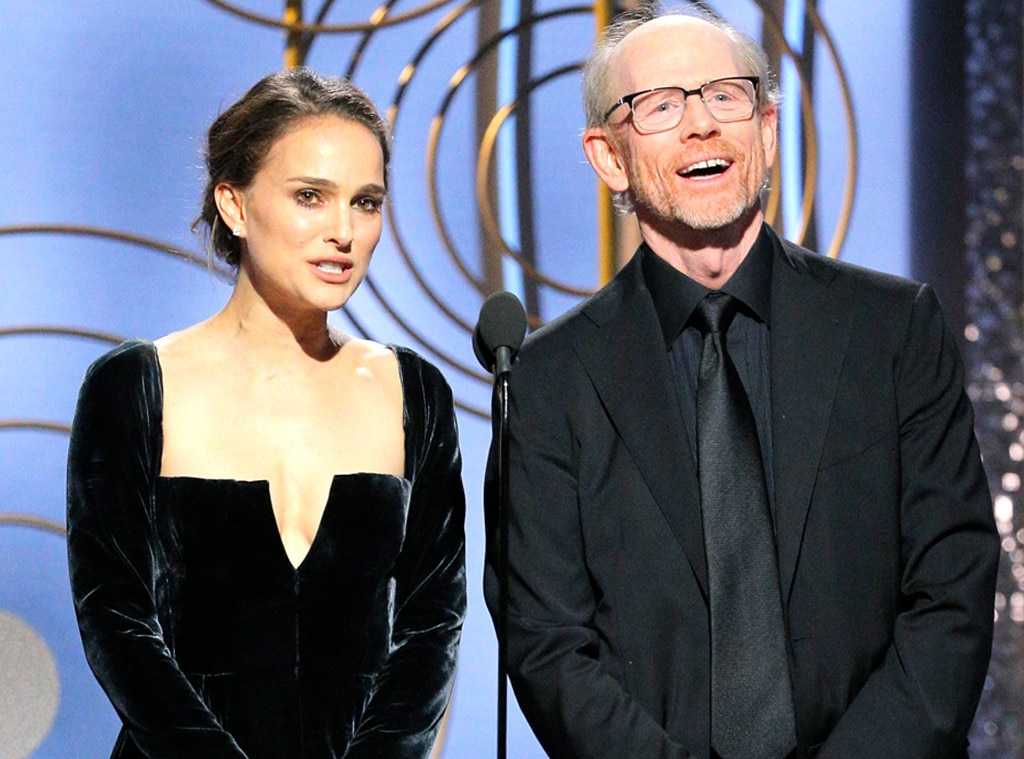 Natalie Portman Ron Howard 2018 Golden Globes