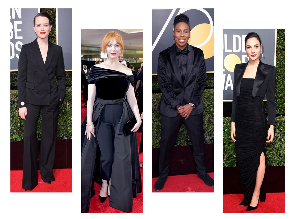 Golden Globes get political with black carpet and powerful speeches
