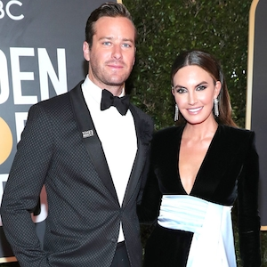Armie Hammer, Elizabeth Chambers, 2018 Golden Globes, Couples