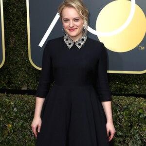 Elisabeth Moss, 2018 Golden Globes, Red Carpet Fashions