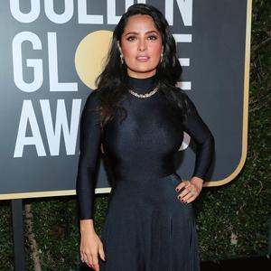 Salma Hayek, 2018 Golden Globes, Red Carpet Fashions