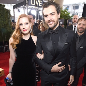 Jessica Chastain, Gian Luca Passi de Preposulo, 2018 Golden Globes, Couples