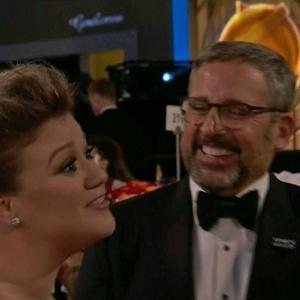 Kelly Clarkson, Steve Carell, 2018 Golden Globes