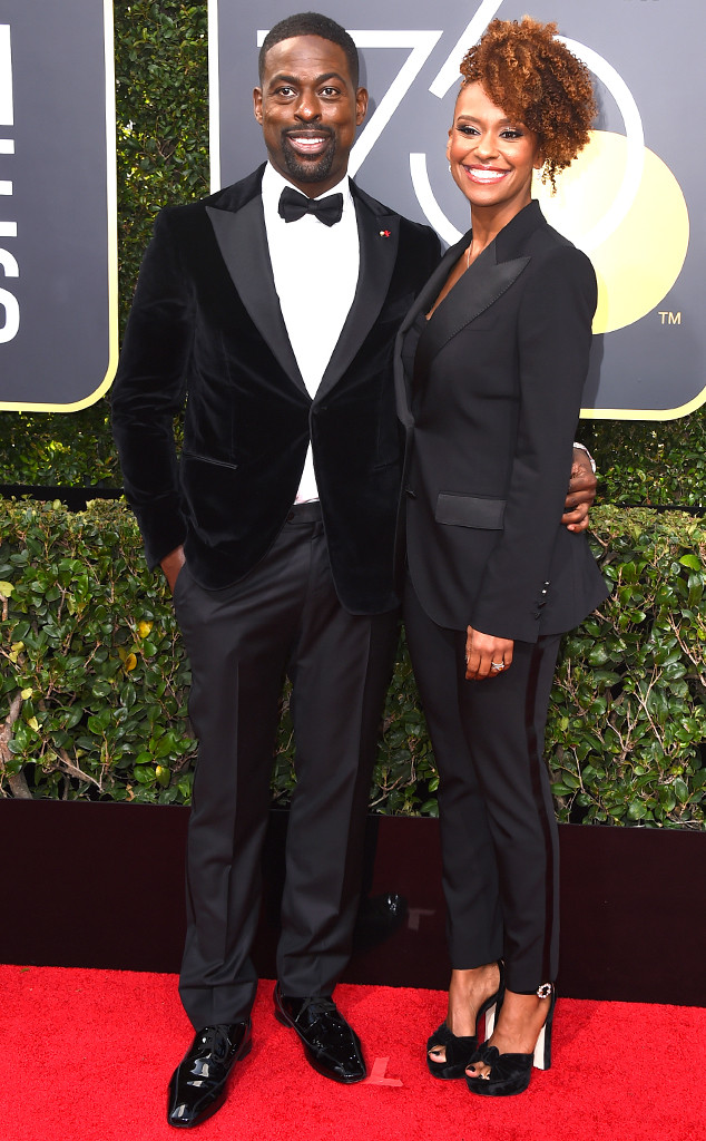 Sterling K. Brown, Ryan Bathe, 2018 Golden Globes, Couples