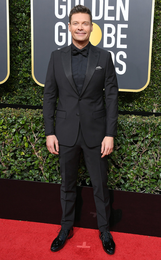 Ryan Seacrest, 2018 Golden Globes, Red Carpet Fashions