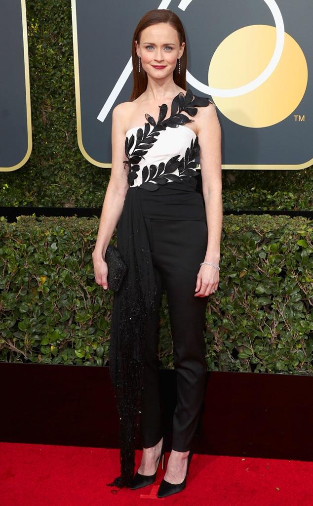 2018 Golden Globes Red Carpet Fashion Alexis Bledel, 2018 Golden Globes, Red Carpet Fashions