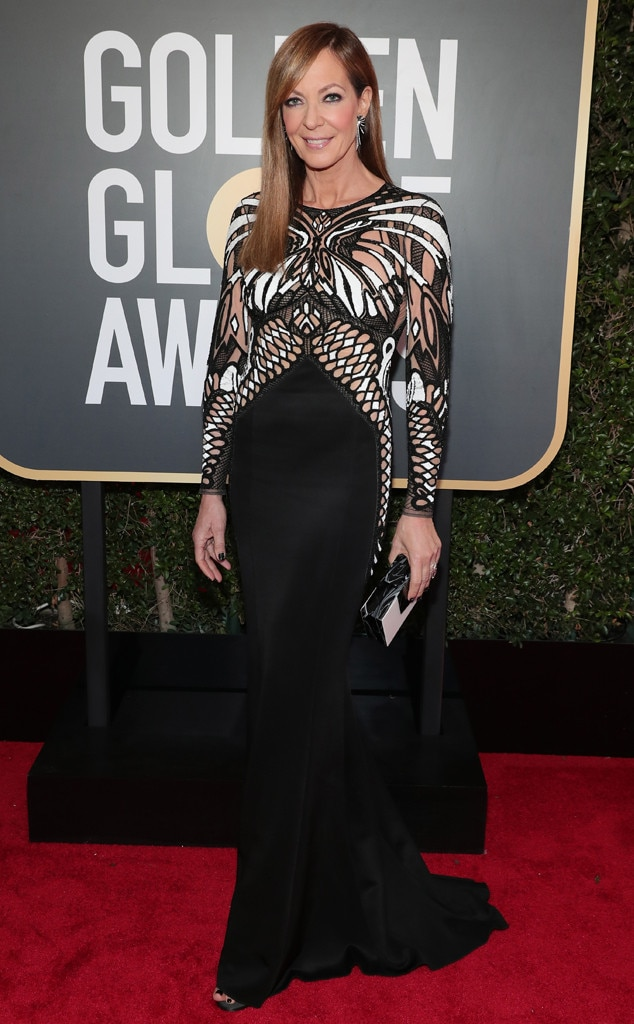 2018 Golden Globes Red Carpet Fashion Allison Janney, 2018 Golden Globes, Red Carpet Fashions