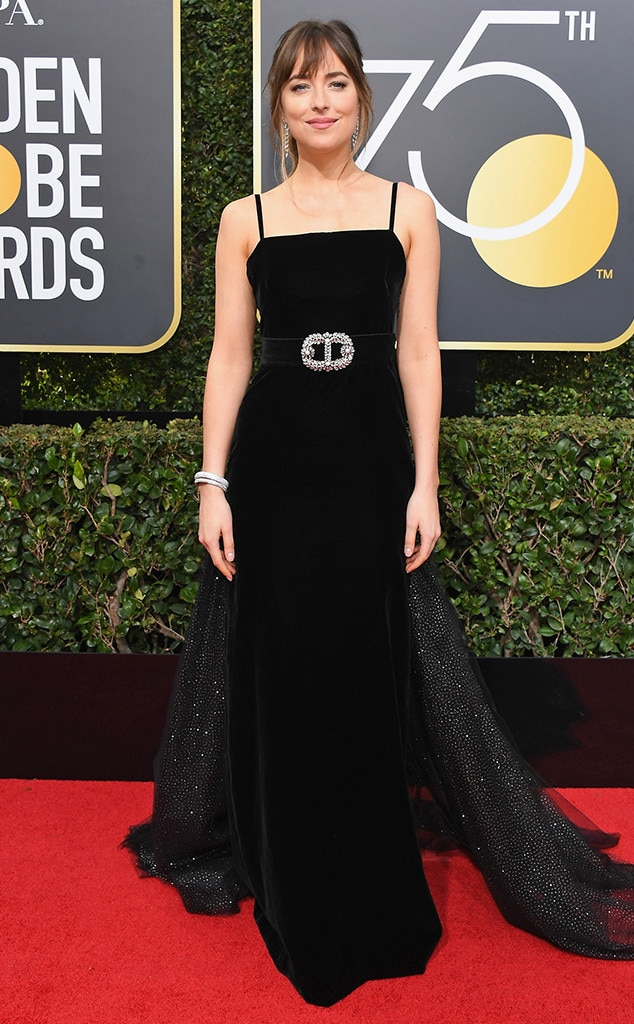2018 Golden Globes Red Carpet Fashion Dakota Johnson, 2018 Golden Globes, Red Carpet Fashions