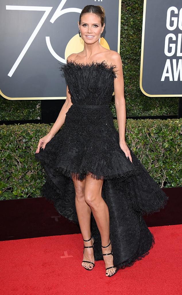 2018 Golden Globes Red Carpet Fashion Heidi Klum, 2018 Golden Globes, Red Carpet Fashions