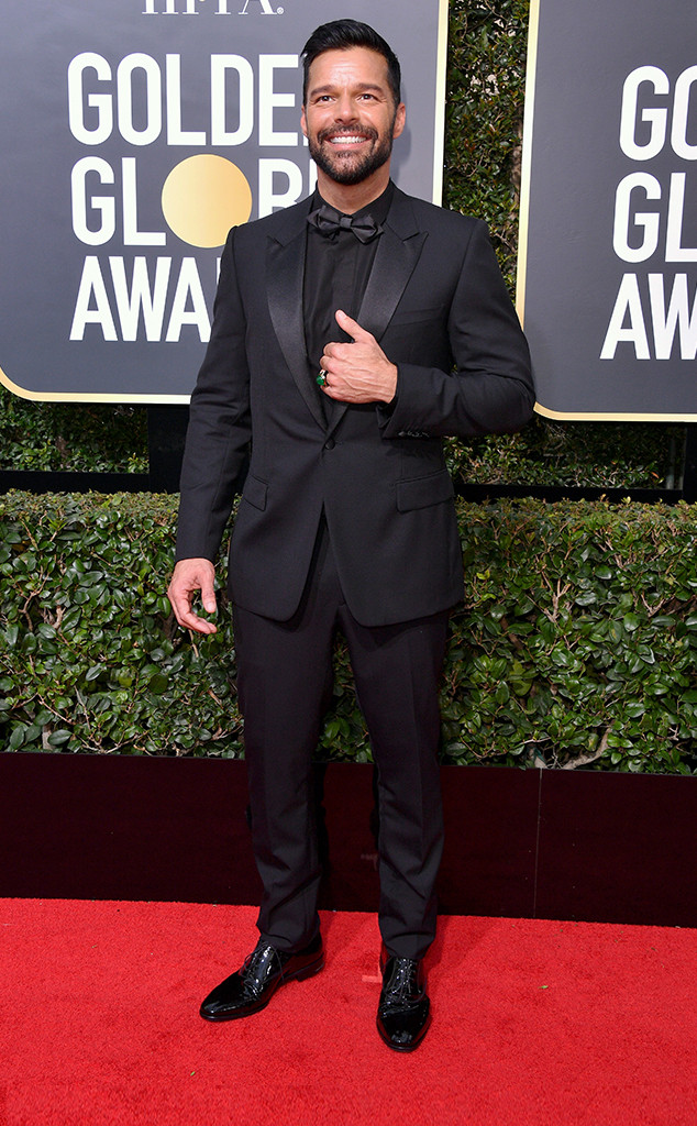 Ricky Martin, 2018 Golden Globes, Red Carpet Fashions