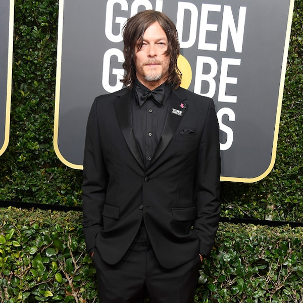 Norman Reedus From 2018 Golden Globes Red Carpet Fashion
