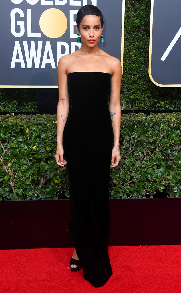 2018 Golden Globes Red Carpet Fashion Zoe Kravitz, 2018 Golden Globes, Red Carpet Fashions