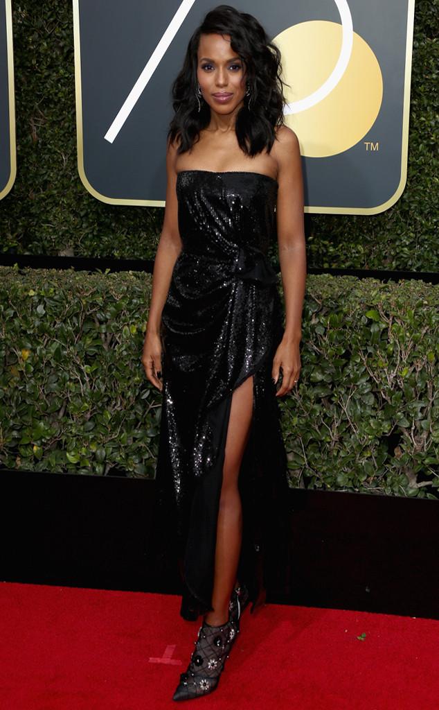 Kerry Washington, 2018 Golden Globes, Red Carpet Fashions