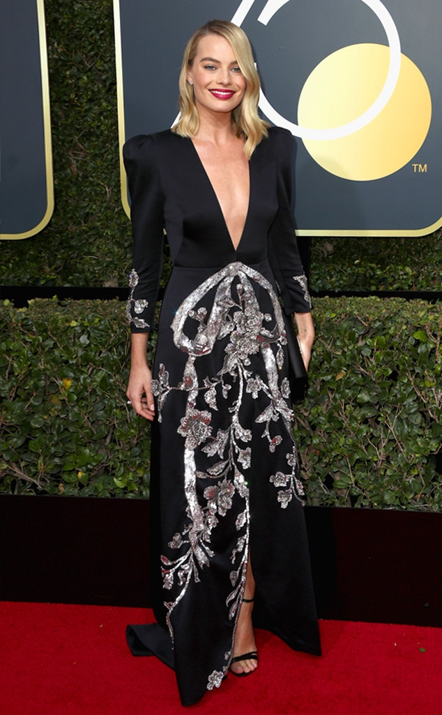 2018 Golden Globes Red Carpet Fashion Margot Robbie, 2018 Golden Globes, Red Carpet Fashions