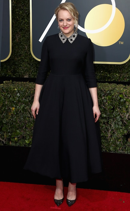 Elisabeth Moss, 2018 Golden Globes, Red Carpet Fashions