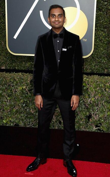 Aziz Ansari, 2018 Golden Globes, Red Carpet Fashions