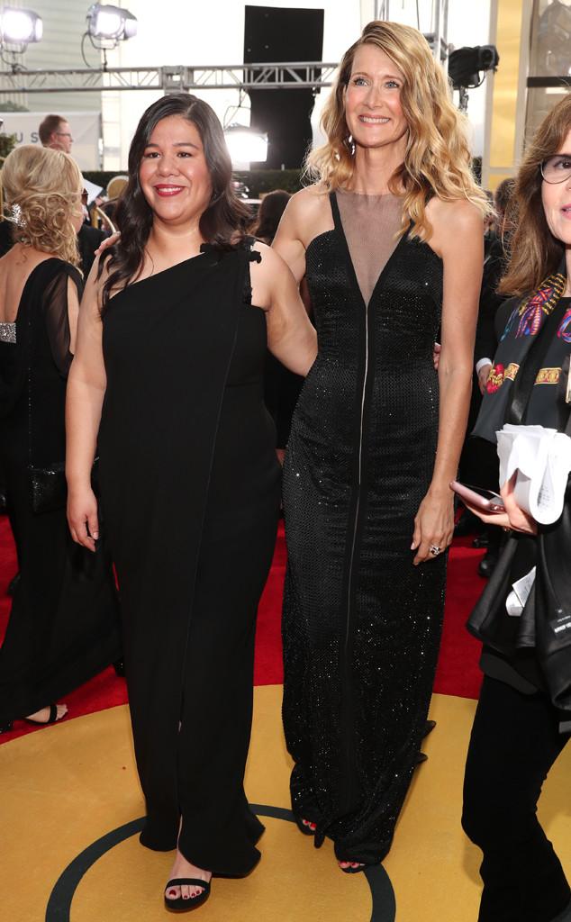Monica Ramirez, Laura Dern, 2018 Golden Globes