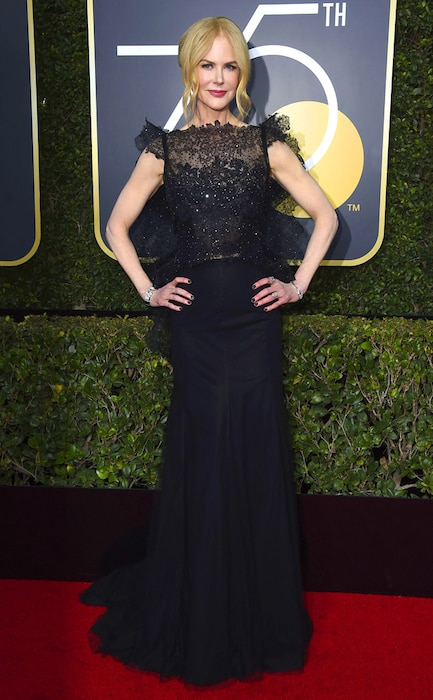 Nicole Kidman, 2018 Golden Globes, Red Carpet Fashions