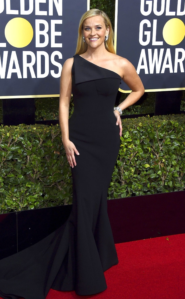 Reese witherspoon from 2018 golden globes red carpet fashion e news - Golden globes red carpet ...