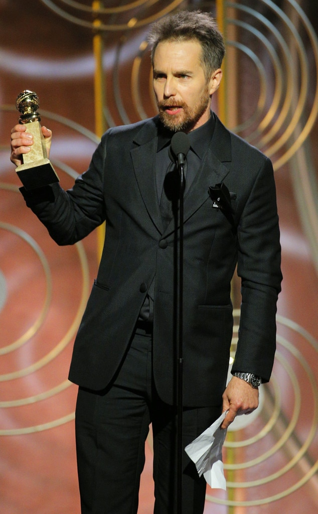 Image result for Sam Rockwell golden globes