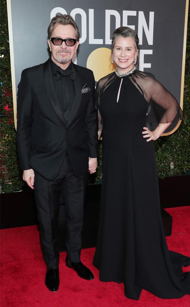 Gary Oldman, Gisele Schmidt, 2018 Golden Globes, Couples
