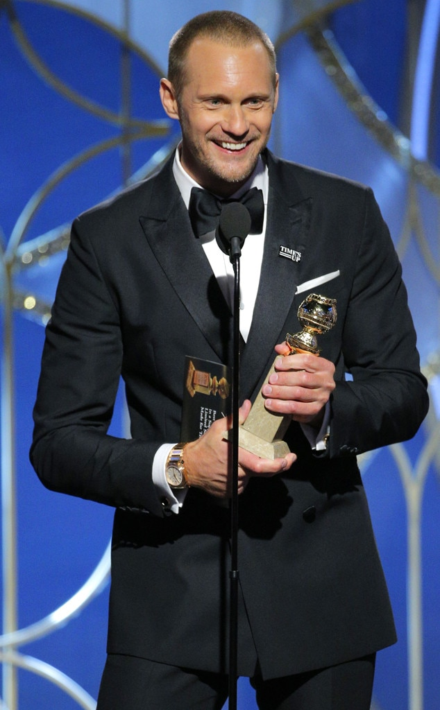 Image result for alexander skarsgård golden globes