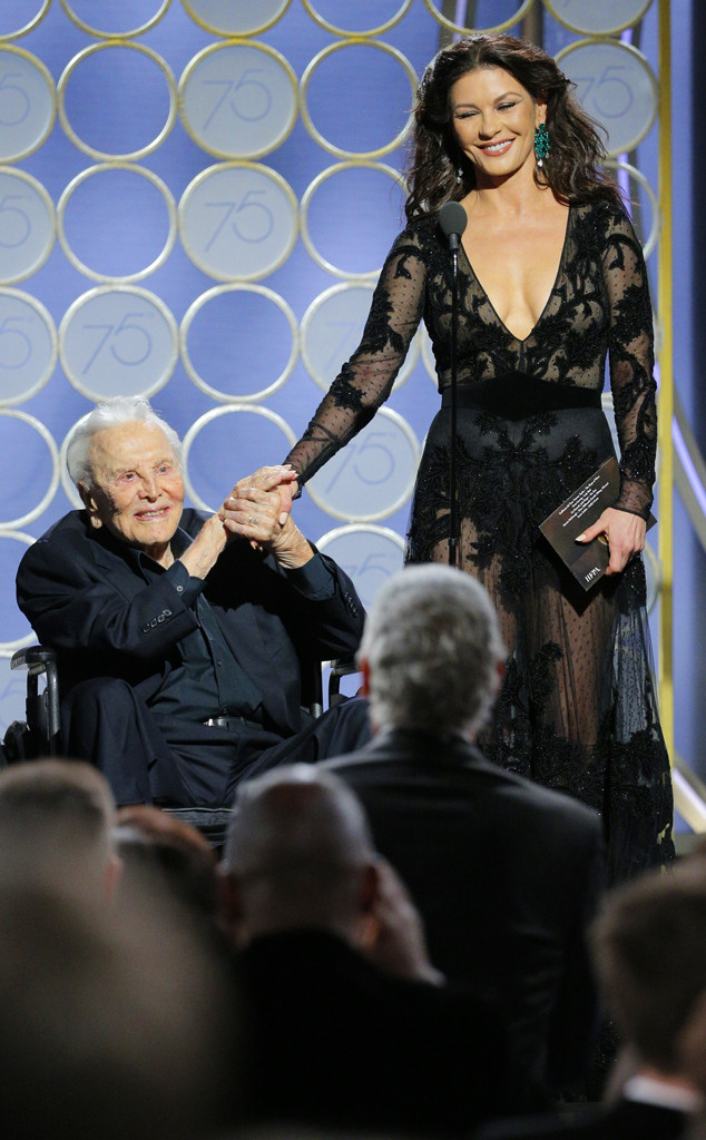 Kirk Douglas, Catherine Zeta Jones, 2018 Golden Globes