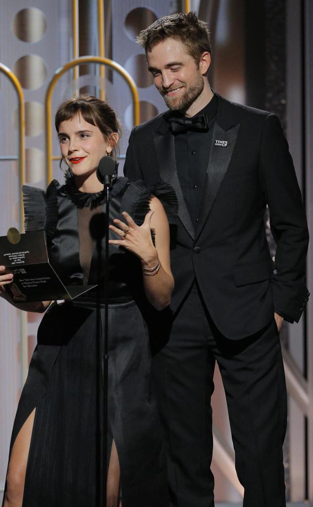 Emma Watson, Robert Pattinson, Golden Globes, 2018 Golden Globes