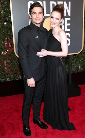 Jason Ralph, Rachel Brosnahan, 2018 Golden Globes, Couples