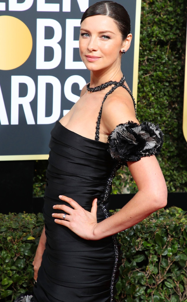 Actress Caitriona Balfe in the golden globe awards 2018