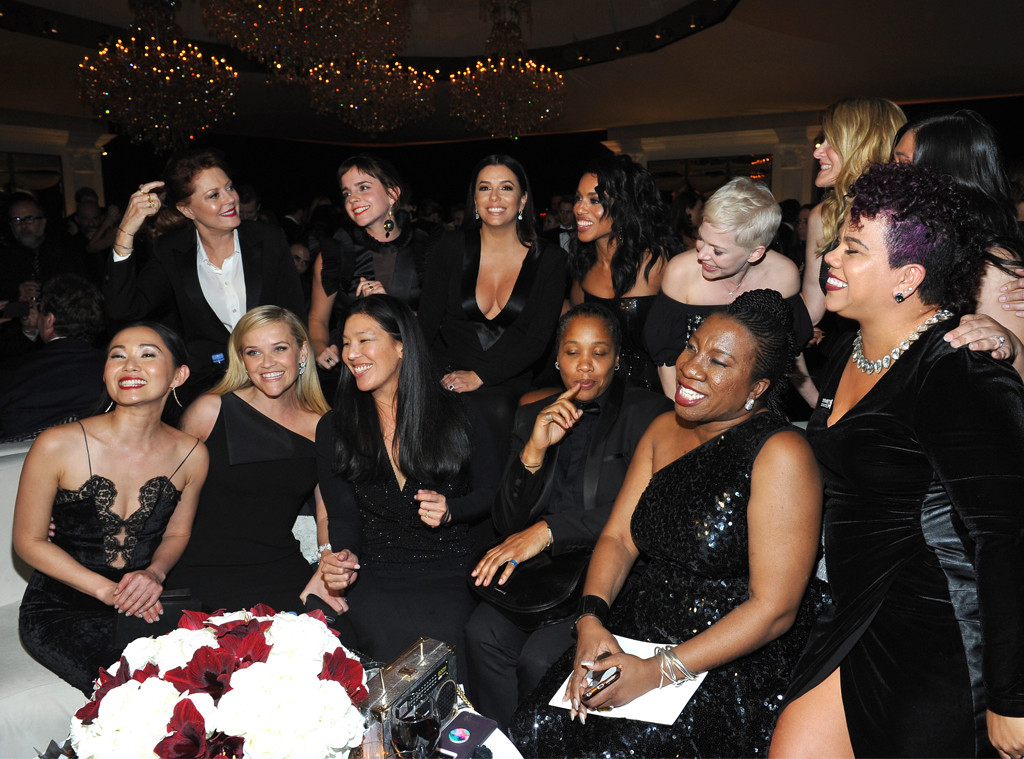 Susan Sarandon, Emma Watson, Eva Longoria, Kerry Washington, Michelle Williams, Laura Dern, Hong Chau, 2018 Golden Globes, Party Pics