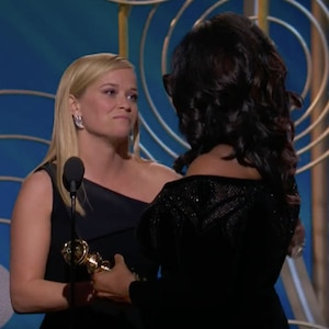 Oprah Winfrey, Reese Witherspoon, 2018 Golden Globes