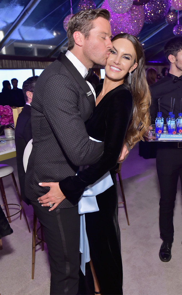 Armie Hammer, Elizabeth Chambers, 2018 Golden Globes, Party Pics