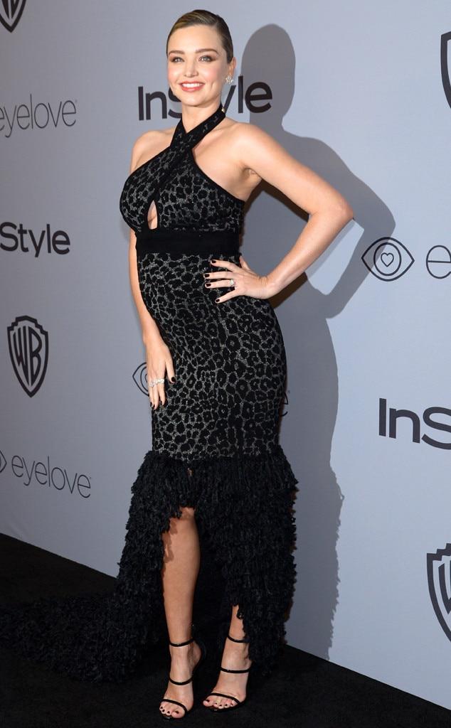 Miranda Kerr Debuts Baby Bump at InStyle's 2018 Golden ... Miranda Kerr Pregnant