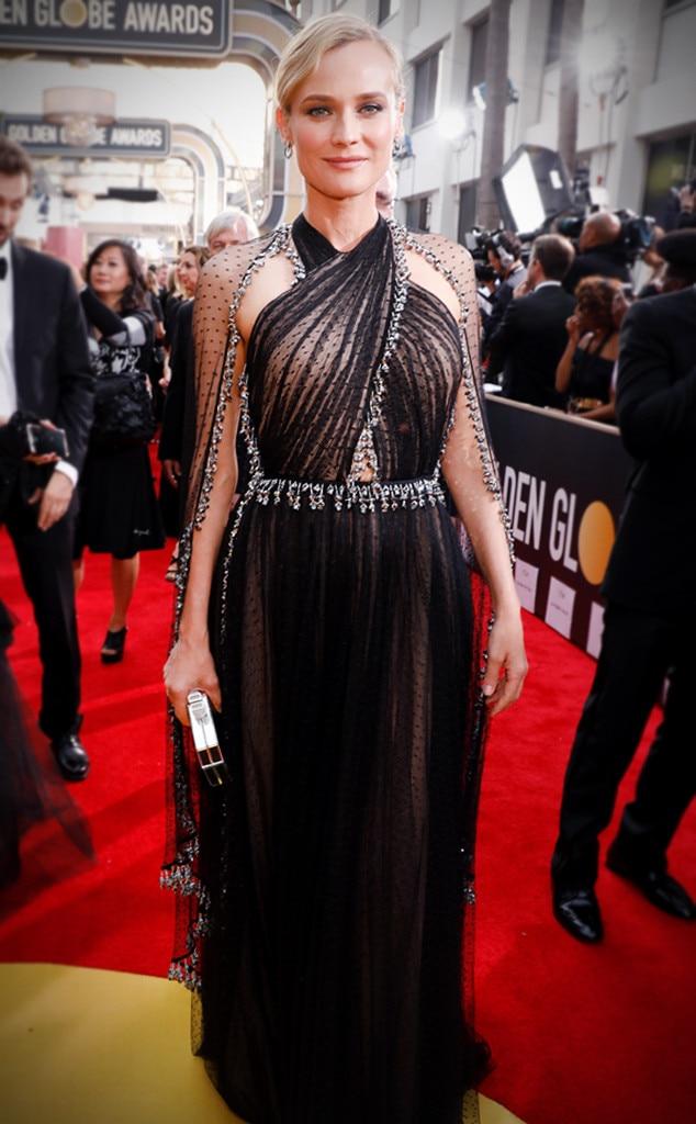 Diane Kruger S Golden Globes Dress The Major Detail You