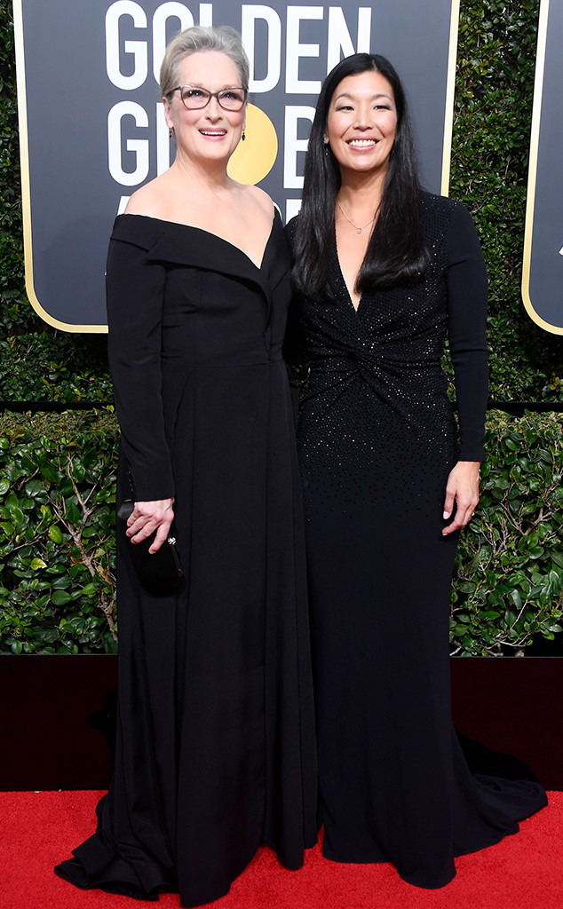 Meryl Streep, Ai-Jen Poo, 2018 Golden Globes