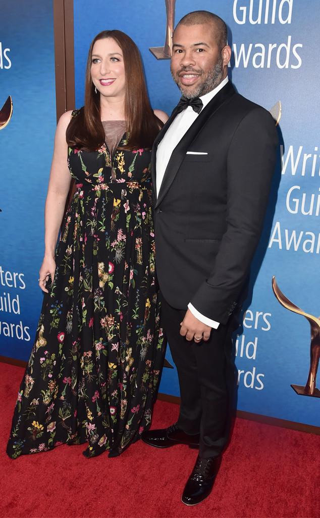 Jordan Peele, Chelsea Peretti, 2018 Writers Guild Awards