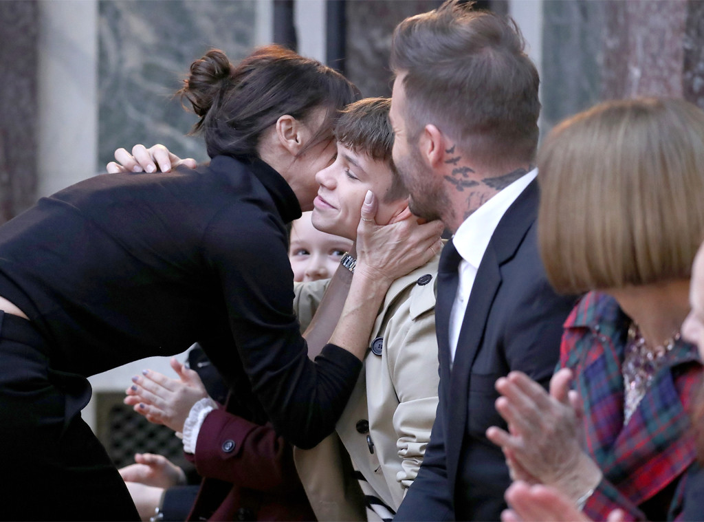 Victoria Beckham, Cruz Beckham, David Beckham, New York Fashion Week