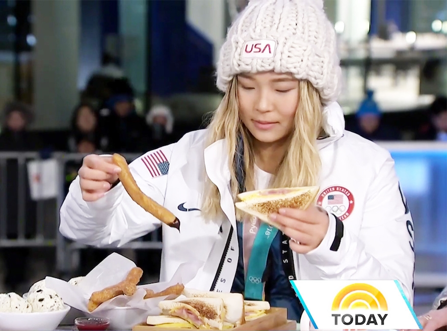 Chloe Kim, Today Show, Eating