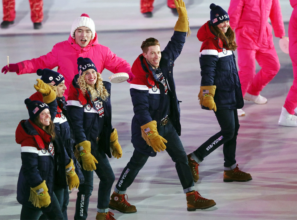 Shaun White, 2018 Winter Olympics, opening ceremony
