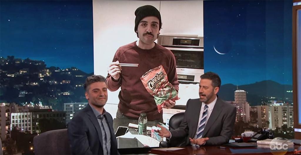 Oscar Isaacs, Jimmy Kimmel Live!, Cheetos